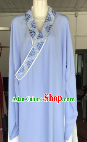 Traditional Chinese Huangmei Opera Niche Costumes Ancient Scholar Embroidered Robe for Men