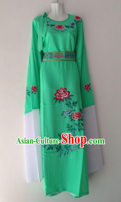 Traditional Chinese Huangmei Opera Niche Green Robe Ancient Gifted Scholar Costume for Men