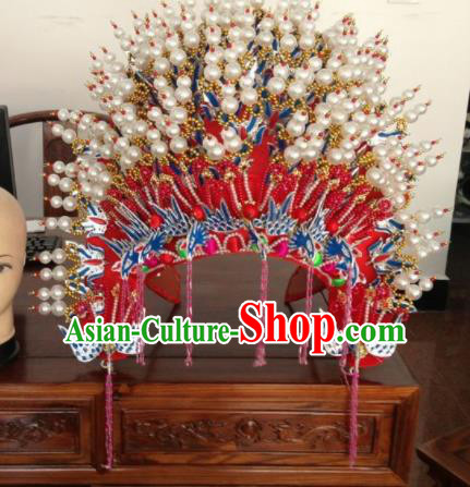 Traditional Chinese Beijing Opera Bride Phoenix Coronet Ancient Imperial Consort Headwear for Women