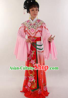 Handmade Traditional Chinese Beijing Opera Hua Tan Diva Red Dress Ancient Imperial Consort Costumes for Women