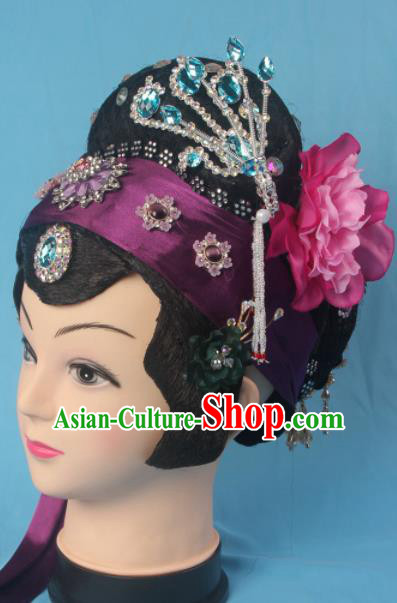 Traditional Chinese Beijing Opera Old Women Hair Accessories Hairpins Ancient Matchmaker Headwear for Women