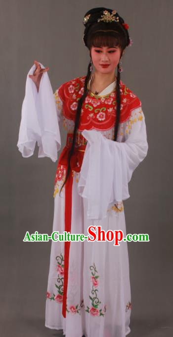 Handmade Traditional Chinese Beijing Opera Peri Red Dress Ancient Nobility Lady Costumes for Women