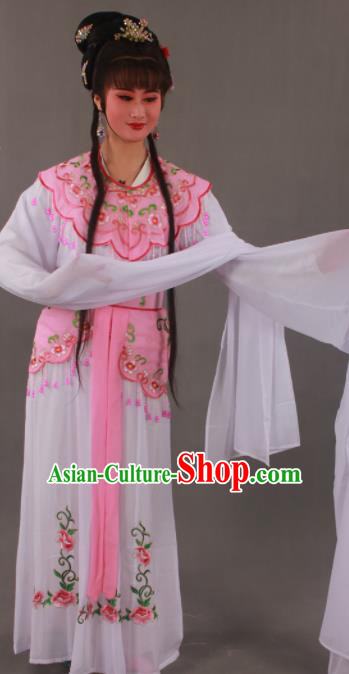Handmade Traditional Chinese Beijing Opera Peri Pink Dress Ancient Nobility Lady Costumes for Women
