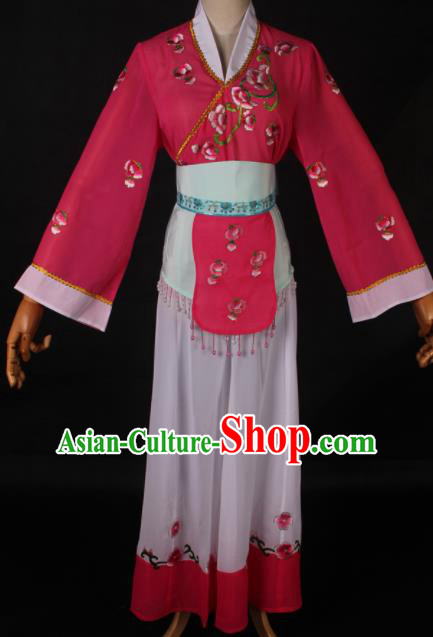 Traditional Chinese Shaoxing Opera Village Girl Dress Ancient Peking Opera Maidservants Costume for Women