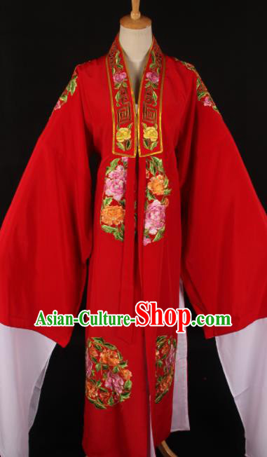 Traditional Chinese Shaoxing Opera Niche Embroidered Red Gown Ancient Gifted Scholar Costume for Men