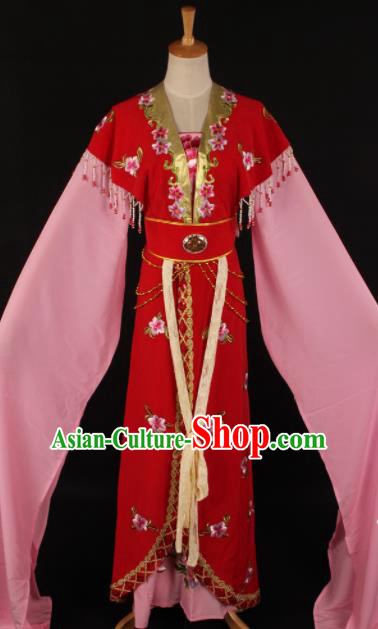 Chinese Traditional Shaoxing Opera Countess Red Dress Ancient Peking Opera Actress Costume for Women