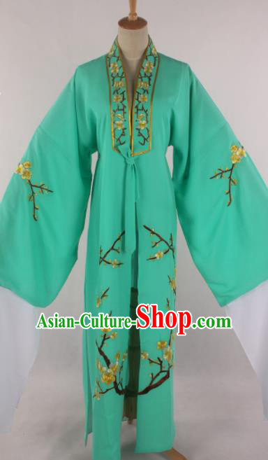 Traditional Chinese Shaoxing Opera Niche Green Robe Ancient Childe Scholar Costume for Men