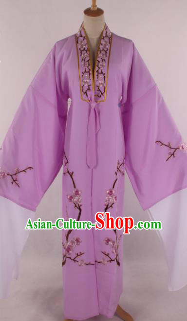 Traditional Chinese Shaoxing Opera Niche Purple Robe Ancient Childe Scholar Costume for Men