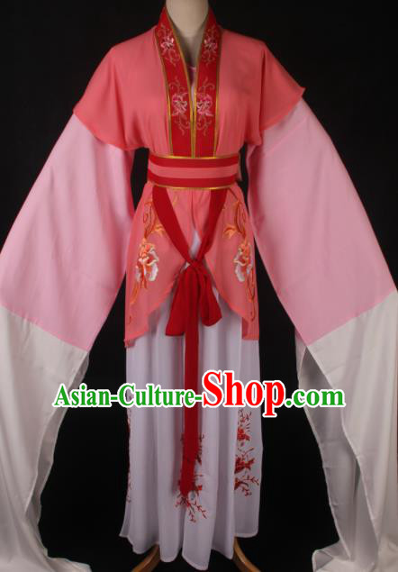 Traditional Chinese Shaoxing Opera Orange Dress Ancient Peking Opera Village Lady Costume for Women