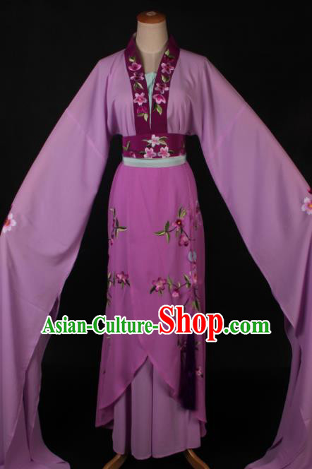 Traditional Chinese Shaoxing Opera Actress Purple Dress Ancient Peking Opera Rich Lady Costume for Women