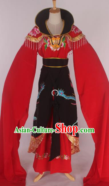 Chinese Traditional Shaoxing Opera Queen Black Dress Ancient Peking Opera Actress Costume for Women