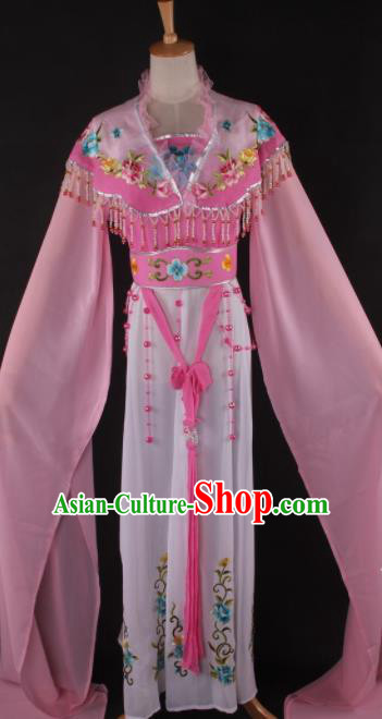 Professional Chinese Beijing Opera Peri Pink Dress Ancient Traditional Peking Opera Diva Costume for Women