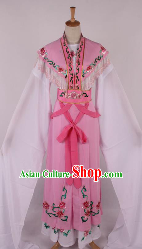 Chinese Traditional Beijing Opera Actress Princess Pink Dress Ancient Peking Opera Diva Costume for Women