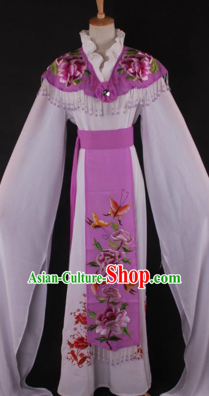 Professional Chinese Beijing Opera Princess Purple Dress Ancient Traditional Peking Opera Diva Costume for Women