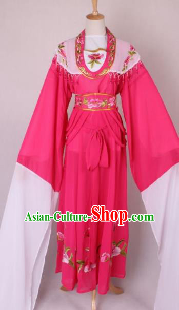 Professional Chinese Beijing Opera Nobility Lady Rosy Dress Ancient Traditional Peking Opera Costume for Women