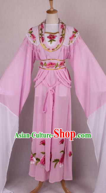 Professional Chinese Beijing Opera Nobility Lady Pink Dress Ancient Traditional Peking Opera Costume for Women
