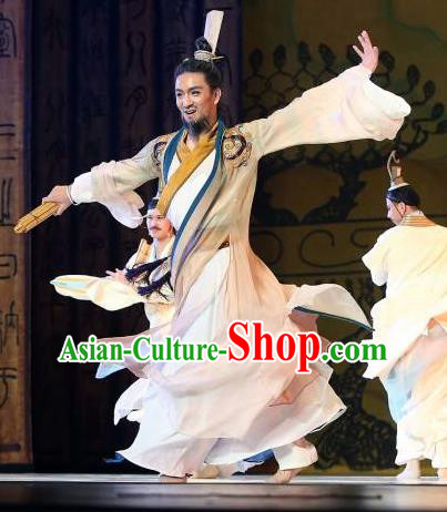 Traditional Chinese Classical Dance Confucius Costume Drama Dance Clothing for Men