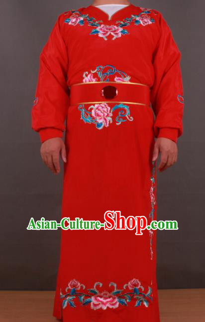 Chinese Shaoxing Opera Niche Jia Baoyu Red Robe Traditional Ancient Gifted Scholar Childe Costume for Men