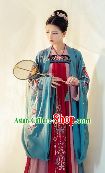 Chinese Ancient Drama Imperial Consort Hanfu Dress Traditional Tang Dynasty Court Concubine Replica Costumes for Women