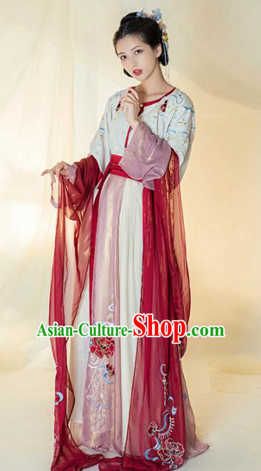 Chinese Ancient Court Lady Dance Hanfu Dress Traditional Tang Dynasty Las Meninas Replica Costumes for Women