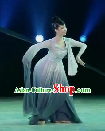 Traditional Chinese Classical Dance Mo Wu Qing Lan Costume Stage Show Beautiful Dance Dress for Women