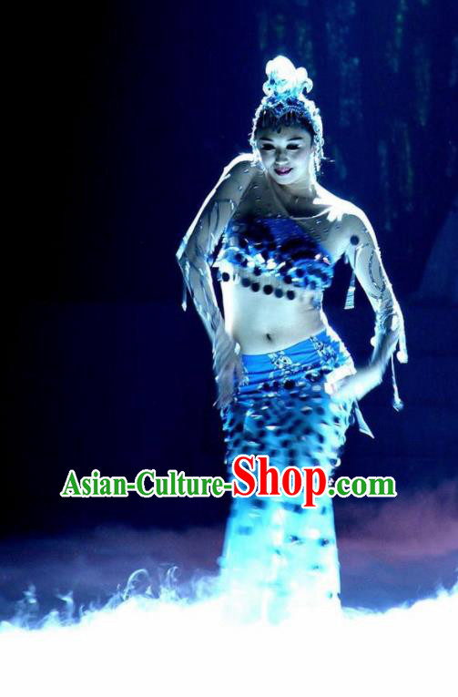 Traditional Chinese Classical Dance Competition Peacock Dance Shui Zhi Ling Costume Stage Show Beautiful Dance Dress for Women