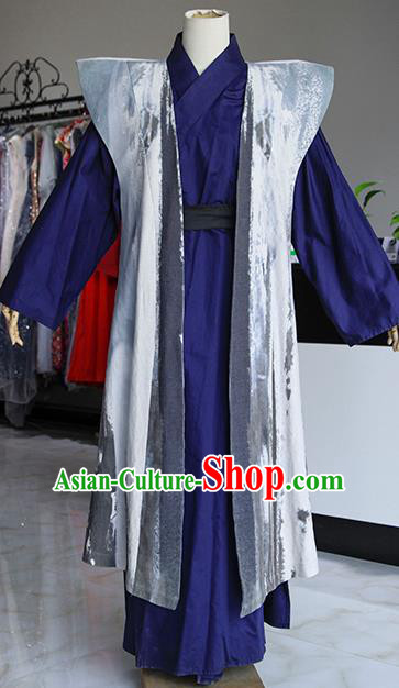 Chinese Ancient Drama Costumes Traditional Ming Dynasty Swordsman Clothing for Men