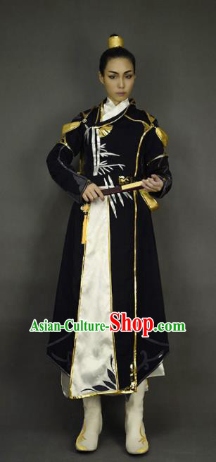 Chinese Ancient Cosplay Knight Young Hero Clothing Traditional Hanfu Swordsman Costume for Men