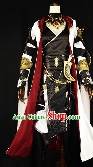 Chinese Ancient Cosplay Young Knight Clothing Traditional Hanfu Swordsman Costume for Men