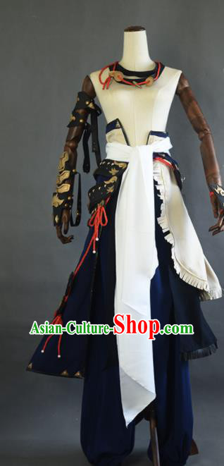 Chinese Ancient Cosplay Beggar Knight Clothing Traditional Hanfu Swordsman Costume for Men