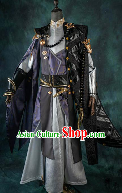Chinese Ancient Drama Cosplay Knight Young General Clothing Traditional Hanfu Swordsman Costume for Men