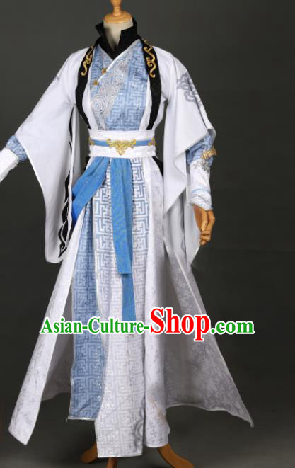 Chinese Ancient Drama Cosplay Young Knight Clothing Traditional Hanfu Swordsman Costume for Men