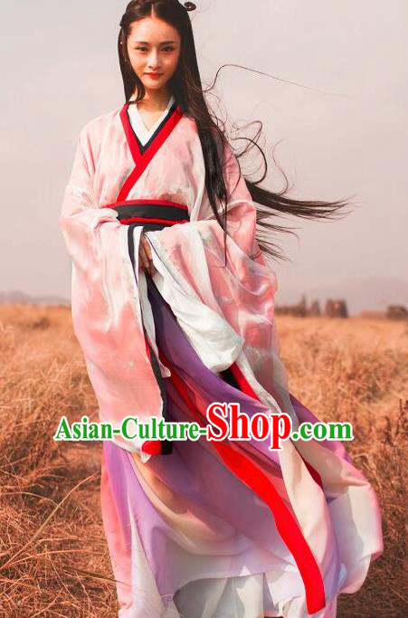 Chinese Traditional Han Dynasty Princess Replica Costumes Ancient Drama Martial Arts Female Swordsman Hanfu Dress for Women