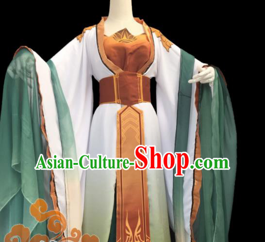 Chinese Traditional Cosplay Imperial Consort Fairy Princess Dress Custom Ancient Swordswoman Costume for Women