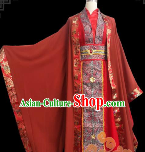 Custom Chinese Ancient Cosplay Taoist Priest Clothing Traditional Swordsman Prince Wedding Costume for Men