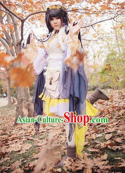 Traditional Chinese Cosplay Fairy Dress Ancient Court Lady Swordswoman Wedding Costume for Women