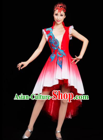 Chinese National Folk Dance Dress Traditional Classical Dance Costume for Women