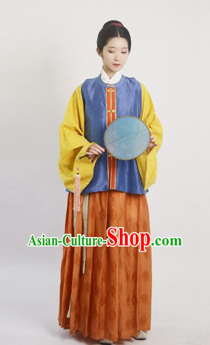 Traditional Chinese Ming Dynasty Nobility Lady Hanfu Dress Ancient Drama Princess Replica Costumes for Women